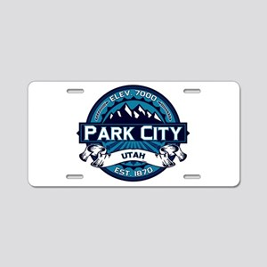 Park City Ice Aluminum License Plate