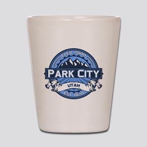 Park City Blue Shot Glass