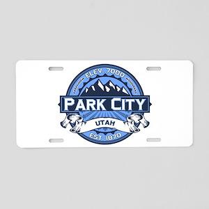 Park City Blue Aluminum License Plate
