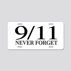 9/11 Never Forget Aluminum License Plate