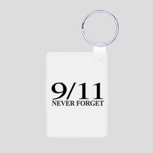 9/11 Never Forget Aluminum Photo Keychain