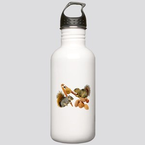 Squirrels Cracking Nuts Stainless Water Bottle 1.0
