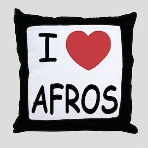 I heart afros Throw Pillow