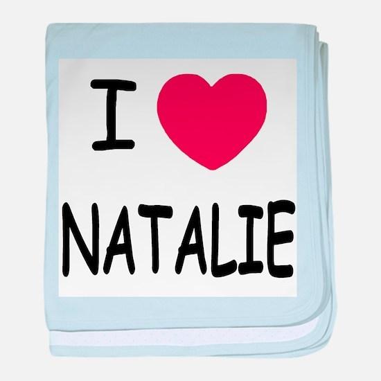 I heart Natalie baby blanket