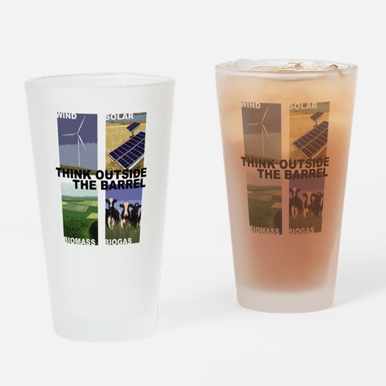 Think Outside the Barrel Drinking Glass