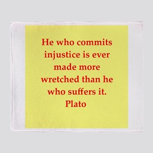 Wisdom of Plato Throw Blanket