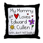 Mommy Shh Throw Pillow