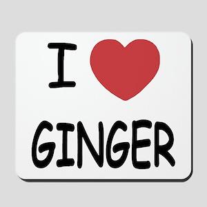I heart ginger Mousepad