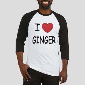 I heart ginger Baseball Jersey