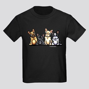 Four Frenchies Kids Dark T-Shirt