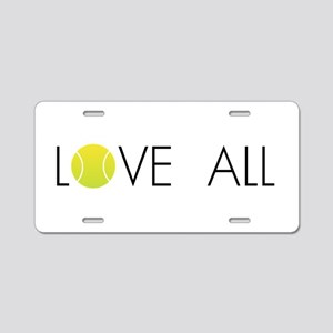 Tennis LOVE ALL Aluminum License Plate