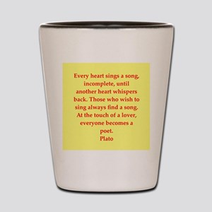 Wisdom of Plato Shot Glass