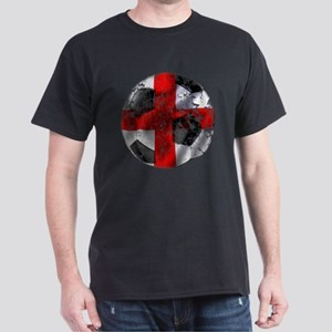 England Fulbol Distressed Design Dark T-Shirt