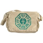 Dharma Blue Ankh Messenger Bag