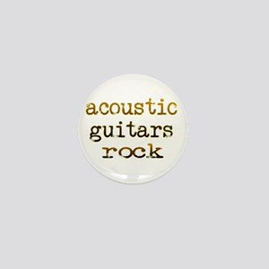 Acoustic Guitars Rock Mini Button