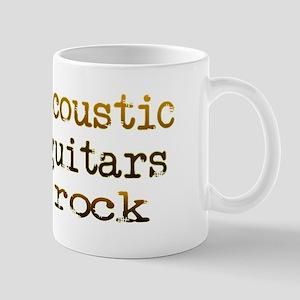 Acoustic Guitars Rock Mug