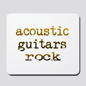 Acoustic Guitars Rock Mousepad