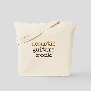Acoustic Guitars Rock Tote Bag