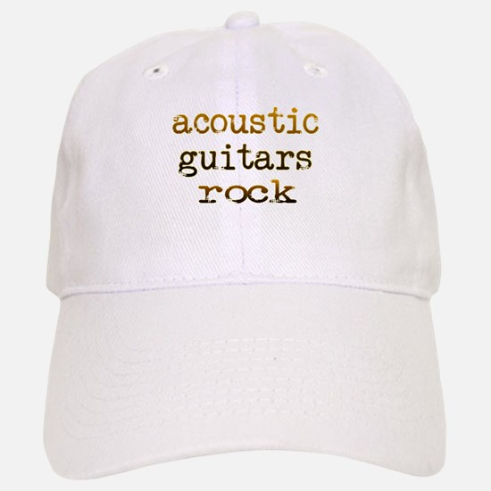 Acoustic Guitars Rock Baseball Baseball Cap