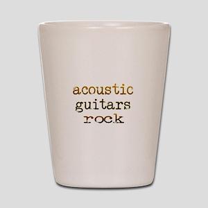Acoustic Guitars Rock Shot Glass