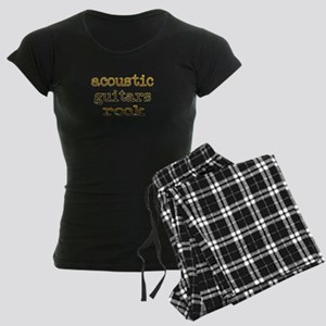 Acoustic Guitars Rock Women's Dark Pajamas