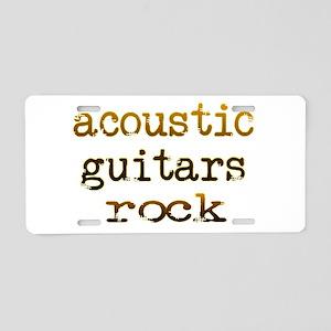 Acoustic Guitars Rock Aluminum License Plate