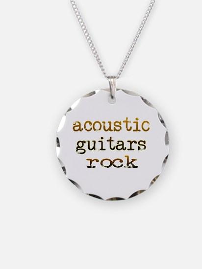 Acoustic Guitars Rock Necklace