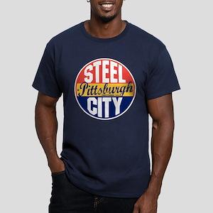 Pittsburgh Vintage Label Men's Fitted T-Shirt (dar