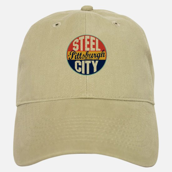 Pittsburgh Vintage Label Baseball Baseball Cap