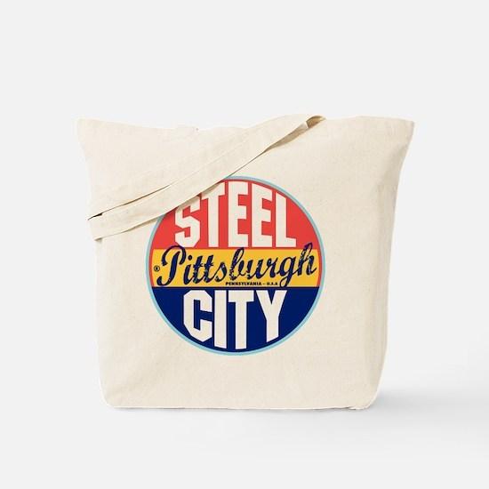 Pittsburgh Vintage Label Tote Bag