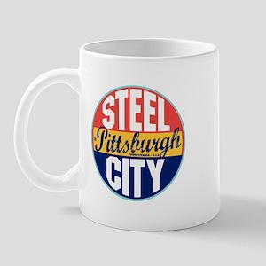 Pittsburgh Vintage Label Mug