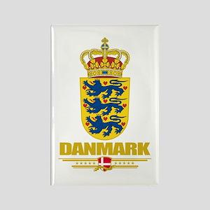 Denmark COA Rectangle Magnet