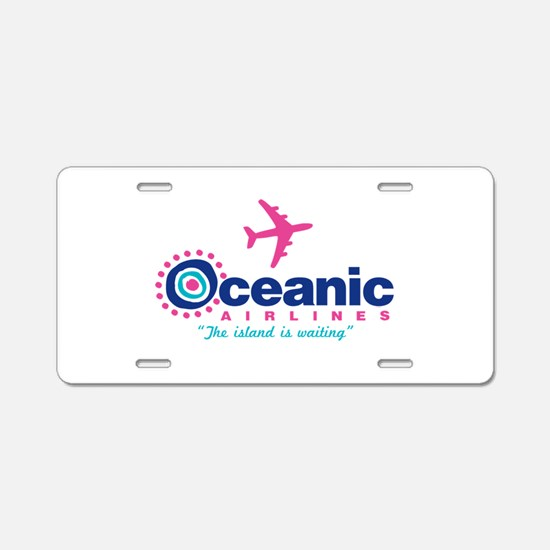 Oceanic Airlines Aluminum License Plate