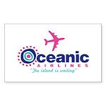 Oceanic Airlines Sticker (Rectangle 50 pk)