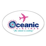 Oceanic Airlines Sticker (Oval 50 pk)