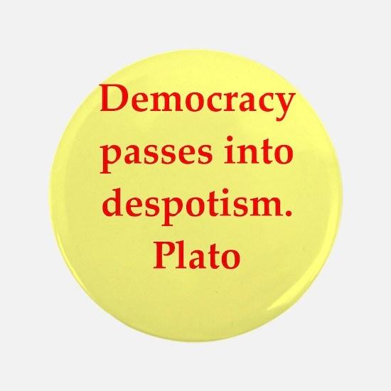 """Wisdom of Plato 3.5"""" Button"""