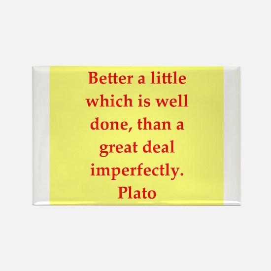 Wisdom of Plato Rectangle Magnet