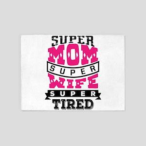 Super Mom Super Wife 5'x7'Area Rug