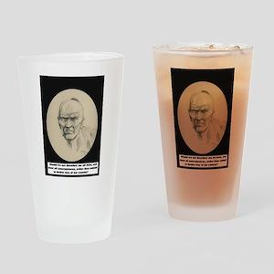 Chickamauga Native American Drinking Glass