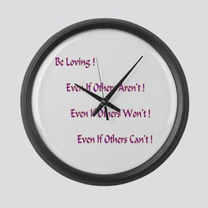 Be Loving Gifts Large Wall Clock