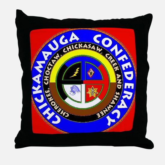 Chickamauga Confederacy Throw Pillow