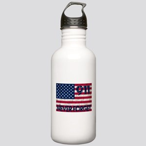 911 Grunge Flag Stainless Water Bottle 1.0L