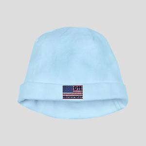 911 Grunge Flag baby hat