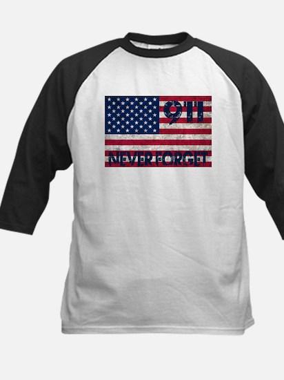 911 Grunge Flag Kids Baseball Jersey