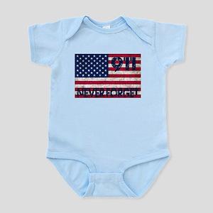 911 Grunge Flag Infant Bodysuit