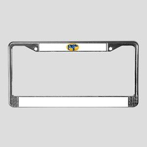 rhinoceros woodcut License Plate Frame