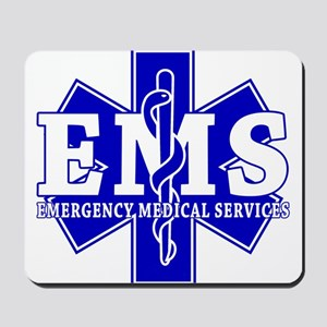 Star of Life EMT - blue Mousepad
