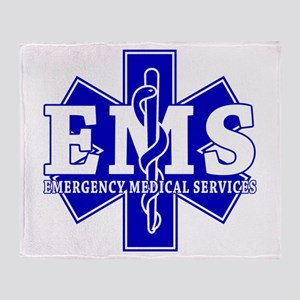 Star of Life EMT - blue Throw Blanket