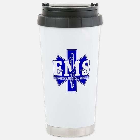 Star of Life EMT - blue Stainless Steel Travel Mug