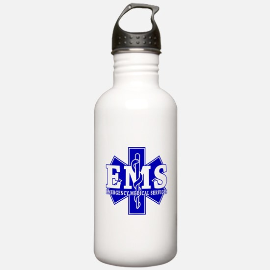 Star of Life EMT - blue Water Bottle